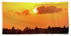 Golden Sky In Cancun Bath Towel