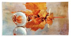 Hand Towel featuring the photograph Golden Tones Of Fall by Randi Grace Nilsberg
