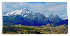 Hand Towel featuring the photograph Gore Mountain Range by Dan Miller