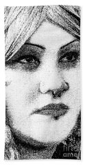 Goth Headshot Hand Towel