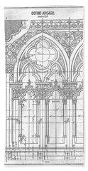 Gothic Arches Bath Towel