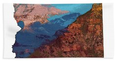 Grand Canyon In The Shape Of Arizona Bath Towel