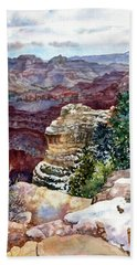 Grand Canyon Winter Day Hand Towel