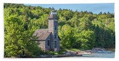 Grand Island East Channel Lighthouse, No. 2 Bath Towel