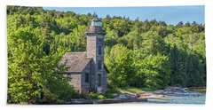 Grand Island East Channel Lighthouse, No. 2 Bath Towel