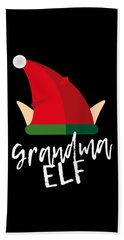 Grandma Elf Christmas Costume Hand Towel
