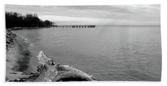 Gray Day On The Bay Hand Towel