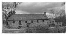 Grey Skies Over Fieldstone - Waterloo Village Hand Towel