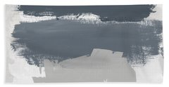 Grayscale 1- Abstract Art By Linda Woods Bath Towel