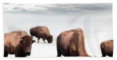 Grazing Buffalo Bath Towel