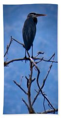 Great Blue Heron 3 Bath Towel