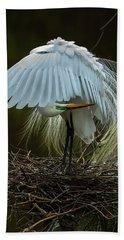 Great Egret Beauty Hand Towel