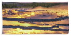 Great Fountain Sunset Bath Towel
