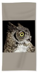 Great-horned Owl Hand Towel