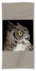 Great-horned Owl Bath Towel