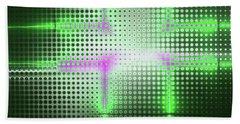 Green Aluminum Sparkling Surface. Metallic Geometric Abstract Fashion Background. Bath Towel