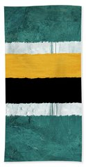 Green And Yellow Abstract Theme V Hand Towel