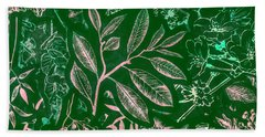 Green Composition Hand Towel