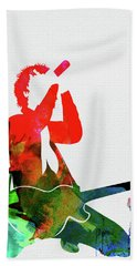 Green Day Watercolor Hand Towel