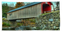 Green Iver Historic Covered Bridge Hand Towel