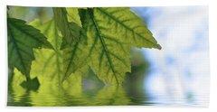 Green Leaf Reflections Bath Towel