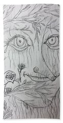 Green Man Of The Forest Hand Towel
