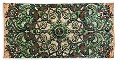 Green Mandala Bath Towel