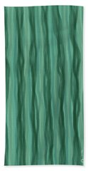 Green Stripes Hand Towel