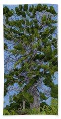 Green Tree, Hot Day Hand Towel