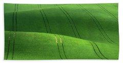 Green Velvet Hand Towel