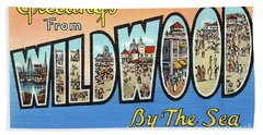 Wildwood Greetings - Version 4 Bath Towel