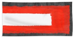 Grey And Red Abstract Vi Hand Towel