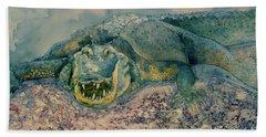 Grinning Gator Hand Towel