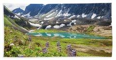 Grizzly Bear Lake Bath Towel
