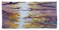 Groynes And Glare Bath Towel
