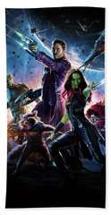 Guardians Of The Galaxy Textless Poster Bath Towel