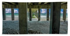 Hand Towel featuring the photograph Gulf Shores Park And Pier Al 1649b by Ricardos Creations