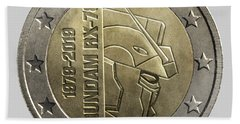 Gundam 40 Coin Light Gray Bath Towel
