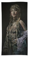 Gypsy Portrait Hand Towel