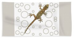 H Is For House Gecko Hand Towel