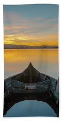 Bath Towel featuring the photograph Half A Boat by Bruno Rosa