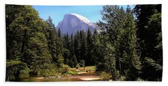 Half Dome From Ahwanee Bridge - Yosemite Hand Towel