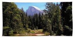 Half Dome From Ahwanee Bridge - Yosemite Bath Towel