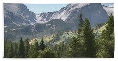 Hallett Peak Colorado Bath Towel