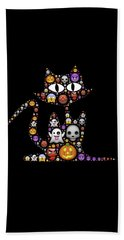 Halloween Cat Bath Towel