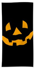 Halloween Pumpkin Tee Shirt Bath Towel