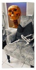 Halloween Window Dressing Bath Towel