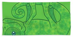 Hang In There Magical Chameleon Bath Towel
