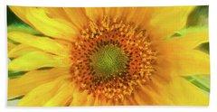 Hannahs Sunflower 002  Bath Towel