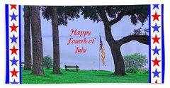 Happy Fourth Of July - A Scene From Fairhope Alabama Bath Towel